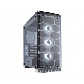 Corsair Cases Crystal RGB Tempered Glass White