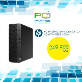 PC HP 280 G3 SFF Core i3-8100 4GB/1TB Free
