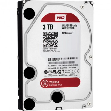 DISCO DURO WESTERN DIGITAL RED 3000GB SATA3 3.5 Sata 6GB/S 64MB